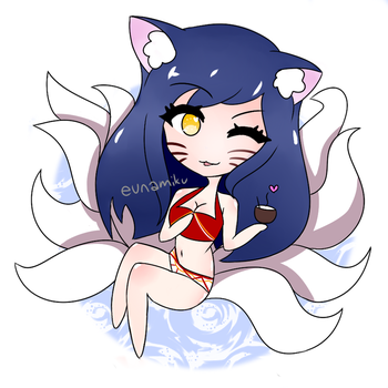 [acrylic charm] Pool Party Ahri! by EunaisKorean