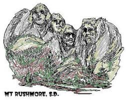 Mt Rushmore Quick-Sketch by zekesgraphics