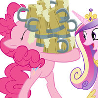 Princess Cadence and Pinkie Pie by Fluttershy-12