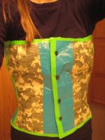 duct tape corset by norbertrox