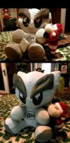 When Fella Plushie meets Santa Claus and Allesia by AllesiaTheHedge