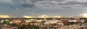The calm before the storm in Kalgoorlie. by PelicanPhoto