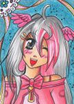 ACEO #011 - Pink Smile by Elythe