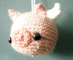 Flying Pig Amigurumi Ornament by AAMurray