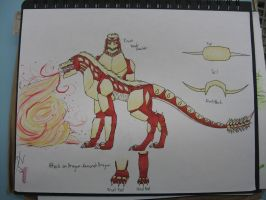 Attack on Dragon: Armored Dragon by empersian1234