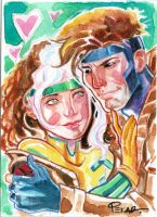 Rogue and Gambit by jFury