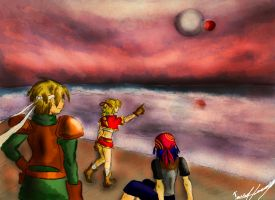 Chrono Cross: Glenn, Kid and Serge by EvanOdinson