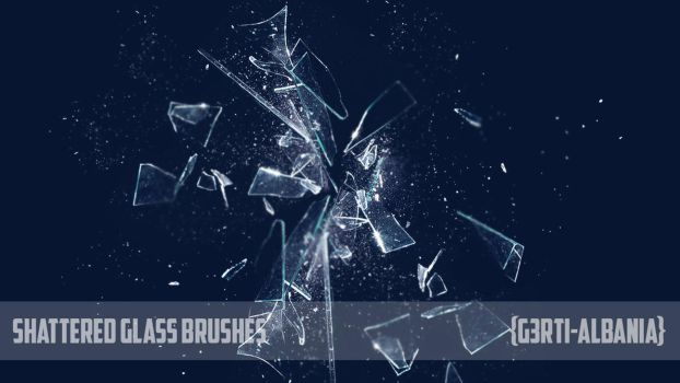 Photoshop Shattered Glass Brushes {G3RTI-ALBANIA} by G3RTI-ALBANIA
