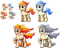 Ponymon - Ponyta and Rapidash by DMN666