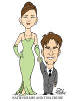 Cruise and Holmes Caricature by JayFosgitt