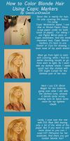 How To Color Blonde Hair With Copic Markers by GwenCanDrawZat