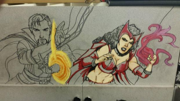 Crater City Comix Tombs WIP Scarlet Witch by Wolfgang-Blaine