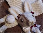 Classic bunny Scarf by Cateaclysmic