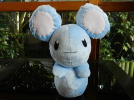 Azurill Plushie by channellehazel