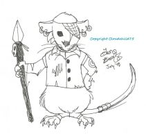 Rank and file Redwall soldier rat by MaguschildCloud