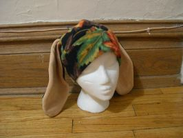 Honey Autumn Leaf Bunny Hat by kittyhats