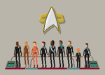 Star Trek: Deep Space Nine - Pixelart Crew by Adam-Grant