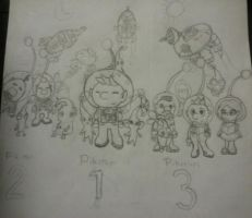Pikmin 1, 2, and 3! by TeamSonicForever4910