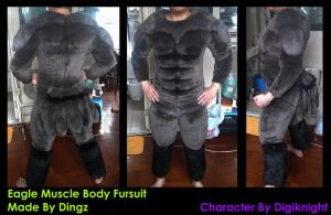 Eagle Body Fursuit Finished! by Dingz