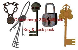 Key and lock pack by 3DigitalStock