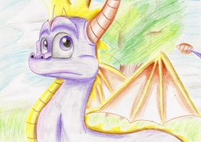 Spyro Hero's tail by IcelectricSpyro