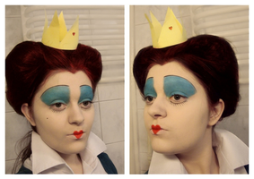 Queen of Hearts make-up transformation by L-Justine