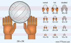 Volley-ball Icon by sport-icons