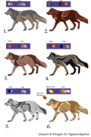 Canine adoptables II_CLOSED by Aquene-lupetta