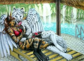 A day at the pool by Schiraki