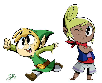 Link and Tetra Style Practice by RedBlooper