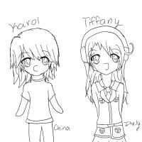 .:Karol and Tiffany:. Hetalia OC's Doodle by fizzynerd