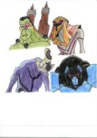 Ben 10 Monster Movie Villains by HeatGrade77