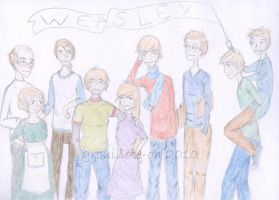 The Weasley Family -colored- by Grouillote-oh