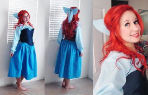 Ariel's Blue Dress Complete~ by Spwinkles