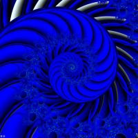 A Swirl Blue of Time Life by annemaccat