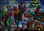 Commission - Merry Christmas and happy new year333 by FuriarossaAndMimma