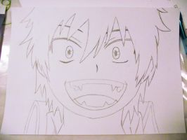 Okumura Rin Smile Drawing by nyanperona-chu