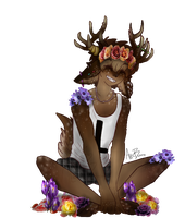 silly faun child by alecbutts