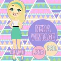 Nena Vintage PSD. by ComeAndFixMyHeart