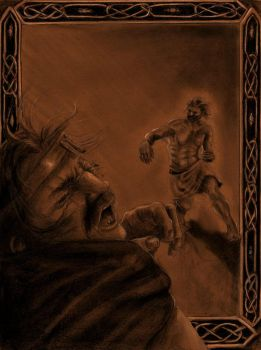 Cath Maige Tuired: The Slaying of Balor by SaxonwithAxe
