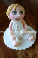 Cute little girl cake topper by zoesfancycakes