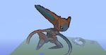 Deoxys Speed Form Minecraft Art by GaryAT343