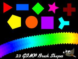 23 Basic GIMP Brush Shapes (Pack 1) by PkGam