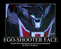 Wheeljack's Ego-Shooter Face by SuiteOrchestra