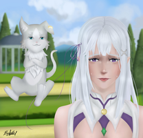 EMILIA AND PUCK :3 by JamminMonkey