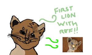 First Lion with ref!! by TLK-SIMBA-SANDSLASH