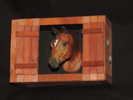 Horse Barn Shadow Box by Ethereal-Beings