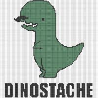 Dinostasche Pattern by KittyBywaters