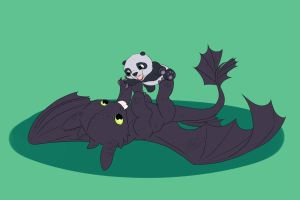 Toothless and Kung Fu Panda by Unbrydled