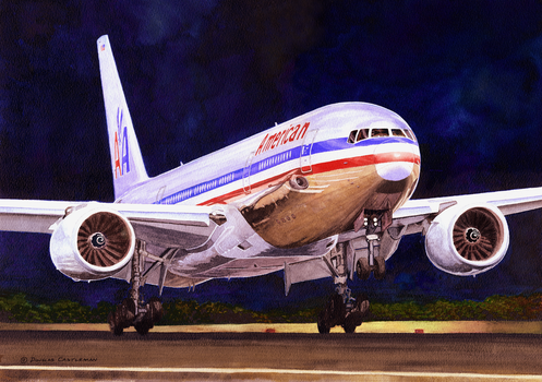 American Airlines Boeing 777 by DouglasCastleman